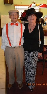 Ron and Joanne Koppenhover, members of the Fort Pierce Elks Lodge #1520, enjoy the festivities of Kentucky Derby Day.